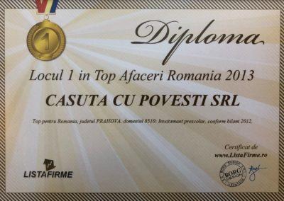 Diploma Loc 1 Top Afaceri RO 2013